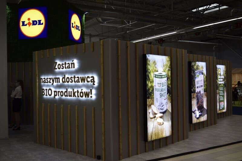 stoisko LIDL POLSKA podczas BIOEXPO Warsaw 2020